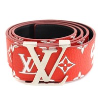 SUPREME LOUISVUITTON 17AWLV Initiales 40 MM Belt Monogram belt (95) (21621