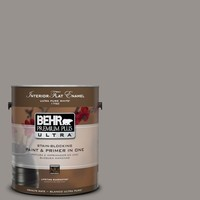 BEHR Premium Plus Ultra 1-Gal. #PPU18-16 Elephant Skin Flat Enamel Interior Paint-175401 at The Home Depot