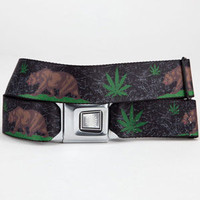 Buckle-Down Cali Bear Pot Leaf Buckle Belt Black Combo One Size For Men 23168814901