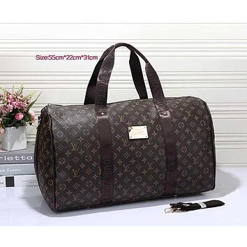 Louis Vuitton LV Women Leather Multicolor Luggage Travel Bags Tote Handbag-3