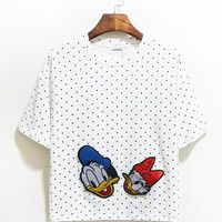 Donald & Daffy Duck Polka Dotted Tee