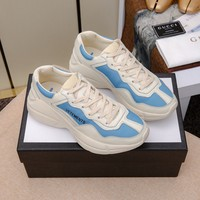 Gucci Men's Leather Rhyton Sneakers Shoes
