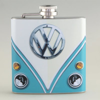 Volkswagen Classic Van Liquor Hip Flask Stainless Steel 6 oz (FK-0243)