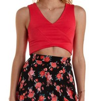 Sleeveless Wrap Crop Top by Charlotte Russe
