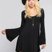 Sabrina Bell Sleeve Dress - Black - Dresses - Clothes | GYPSY WARRIOR