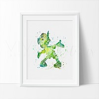 Pinocchio 2 Watercolor Art Print