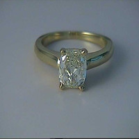 2.54ct F-SI1 Cushion Cut Diamond Engagement Ring EGL certified 18kt yellow gold JEWELFORME BLUE