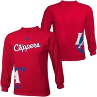 adidas Los Angeles Clippers Youth Getting Big Long Sleeve T-Shirt - Red