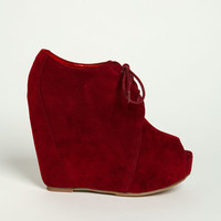 OPEN TOE LACED UP BOOTIES
