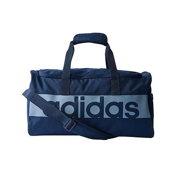 Adidas Originals Linear Logo Performance Sport Teambag Navy Duffle Gym Bag