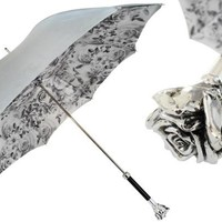 Pasotti Silver Rose Umbrella