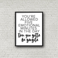 Badass, Motivational Quotes, Inspirational Wall Art, Typography Poster, Gift For Friend, Minimalist Decor, Digital Art Print, Printable Sign