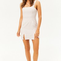 Striped Double Notched Dress