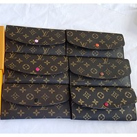 LV Fashion long - style wallet retro simple clamshell clamshell handbag