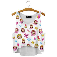 Emoji Princess Crop Top