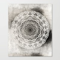 DESERT FLOWER MANDALA Canvas Print by Nika