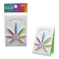 Cannabis Leaf Pop-Up Sticky Notes Stand Up Stationery