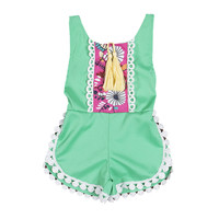 Baby Girls Rompers Toddler Kids Baby Girls Romper Belt Jumpsuit Summer Girls Clothes Outfit