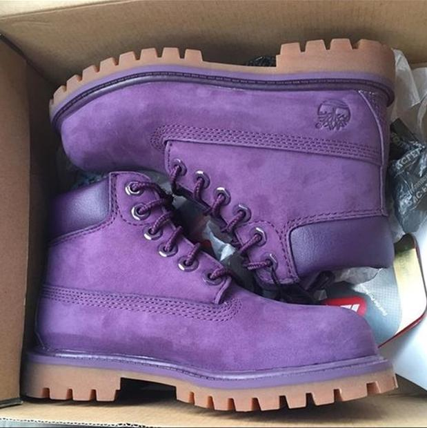 Image of Timberland boots for men and women shoes waterproof Martin boots lovers Purple
