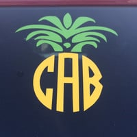 Pineapple Monogram Decal - For Your Car, Laptop, Anything!