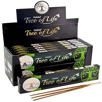 Goloka Tree of Life Incense - 15 Gram Pack (12 Packs Per Box)
