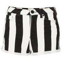 Petite Wide Stripe Hotpants
