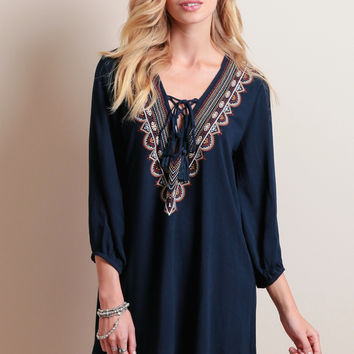 River Crossing Embroidered Dress