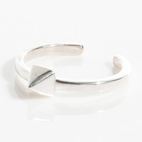 Animus Thin Stud Ring in Silver