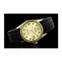 ROLEX men and women fashion quartz watch F-SBHY-WSL Gold Case + Gold Dial