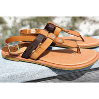 Sunshine Coast Flat Chestnut Thong Sandals