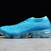 Nike 2018 Air Max Vapormax Flyknit Blue Women Men Running Sport Casual Shoes Sneakers
