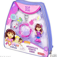 Dora and Friends Adventure Charm Case Backpack With Bracelet, 3 Charms, Cat, & Guitar