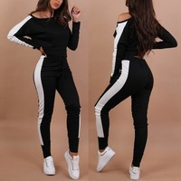 Women Two-piece Sportswear Gym Fitness Clothes Jogging Suits for women Workout Yoga Leggings Sport Suit Ropa Deportiva Hombre