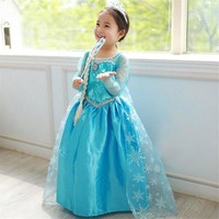 Elsa Dress for Girls Long Sleeve Dress Kids Party Dresses for Girl Princess Dress Children Costume Girls Clothing Vestido Infant