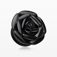A Pair of Rose Blossom Flower Single Flared Plug