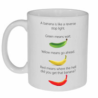 Banana Reverse Stop Light  Coffee or Tea Mug