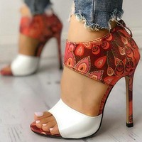 Thin Heeled Sandals New Shoes Woman High Heels Pumps Sandals Fashion Sexy