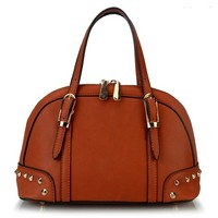 Mllecoco Inspired Women Pu Leather Mini Camilla Satchel Handbag YH-1762 Brown