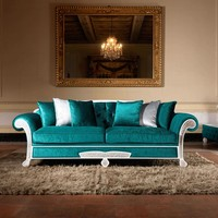 Classic style upholstered wooden sofa bed TREVI Classico Collection by Domingo Salotti