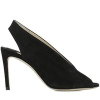 JIMMY CHOO Women's SHAR85SUEBLACK Black Leather Heels