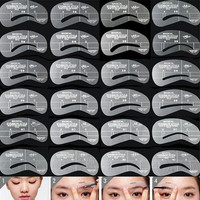 2017 24pcs New Supplementary Artifact Eyebrows Shaped Cards Kit Thrush Card Camber Thrush Posts Beauty Accessories 88