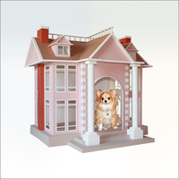 GILDED AGE dog house - Posh manor for a canine who may have been an oil baron or glittering heiress in a past life.