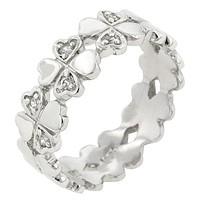 Clover Hearts Ring Band