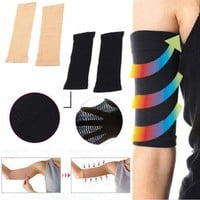 Women Arm Slim Shaper Compression Fit Tight Slimmer Wrap Calorie Off Fat Buster