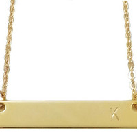 Stamped Gold Bar Necklace-Personalized Gold Bar Necklace-Kim Kardashian Style-Best Friend Gift-Personalized Necklace-Gift For Her-Christmas