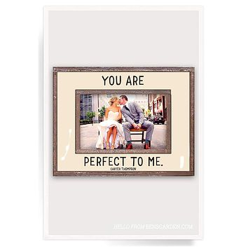 You Are Perfect To Me Copper & Glass Photo Frame