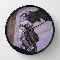 Winged Victory Of Samothrace Wall Clock by Pati Designs