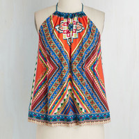 Festival Mid-length Sleeveless Medley in Love Top by ModCloth