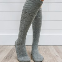 Snowbound Over The Knee Socks