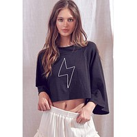 Lightening Bolt Cropped Top